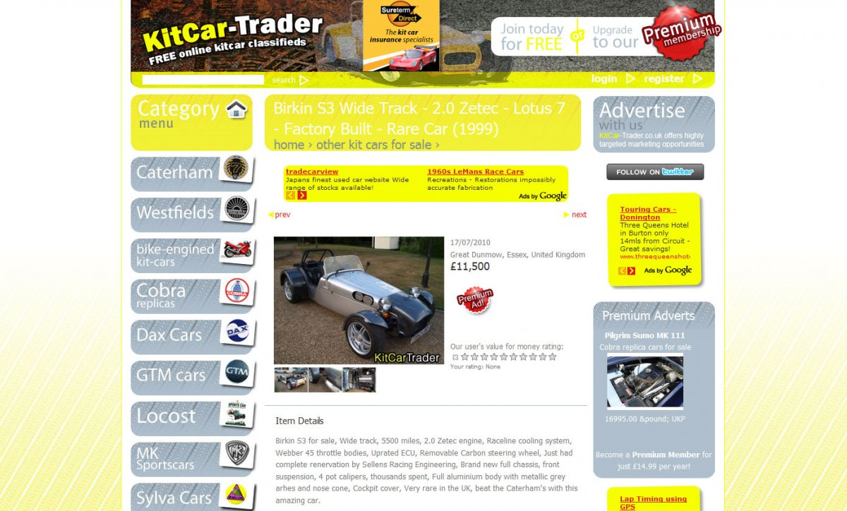 KitCar-Trader classifieds portal redesign | eConcepts web design ...